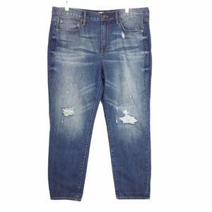 J. Crew Rip and Repair Distressed Boyfriend jeans